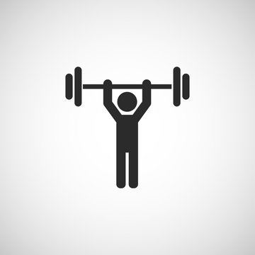 man lifting dumbbell icon