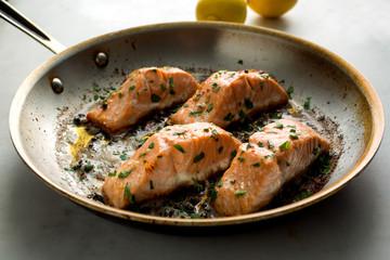 Butter seared salmon