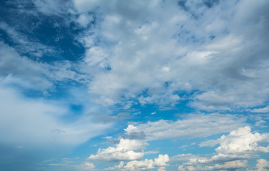 image of sky with white clouds on day time for background usage