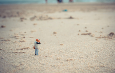photographer and sea