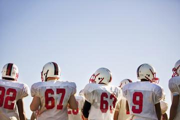 Teenage football team (16-17) during football practice