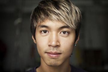 Portrait of blond man