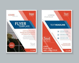 two page brochure, flyer ,report Layout design template, and cover design for business