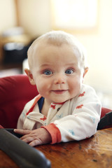 Portrait of cute baby (6-11 months)