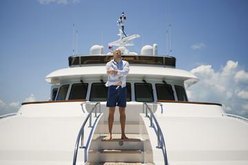 Man on yacht