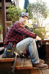 Portrait of home builder