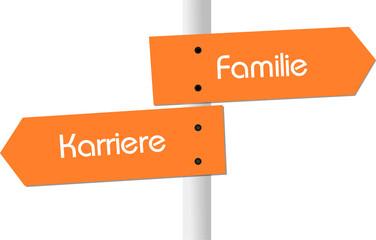 Karriere vs. Familie - Illustration
