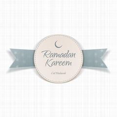 Ramadan Kareem Eid Mubarak textile Label