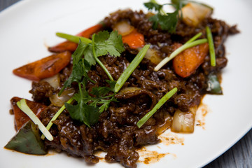 Indonesia Famous Beef Rendang With Black Pepper