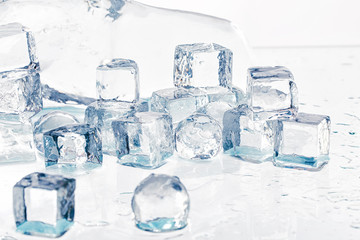 Ice cubes and balls