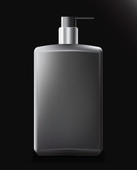 Realistic black bottle cosmetic for cream