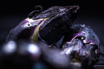 Eggplant, small eggplant, food, close-up, macro.
