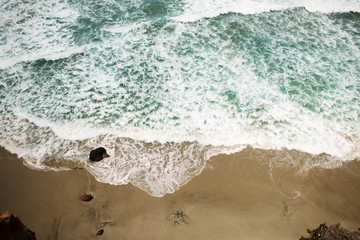 Directly above view of beach
