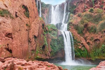 Beautiful waterfall in Ouzoud, Azilal, Morocco. Grand Atlas