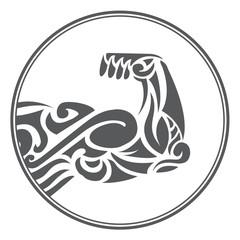 ornamental muscle fitness symbol
