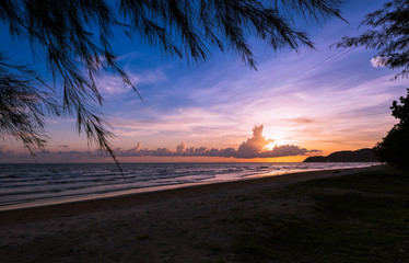 Sunset. Beautiful sunset in EAST PART OF THAILAND