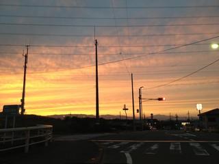 街の夕焼け