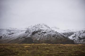 Mountain range in winter