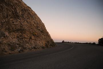 Empty winding road