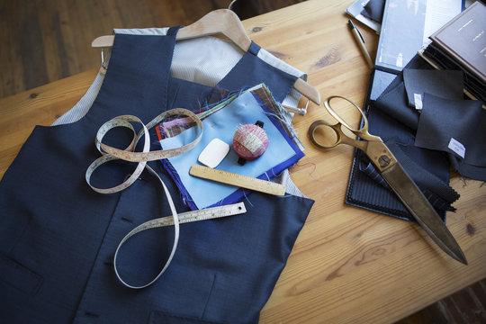Tailor's desk in workshop