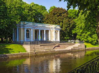 Rossi Pavilion at the Mikhailovsky Garden. St. Petersburg. Russia