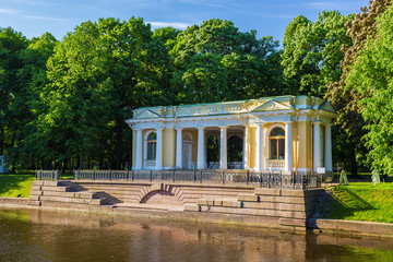 Rossi Pavilion at the Mikhailovsky Garden. St. Petersburg. Russia