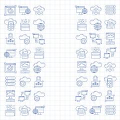 Cloud storage Vector icons set