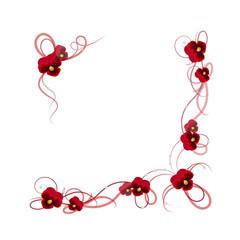 Floral vector frame.