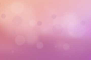 pink and orange colorful abstract background with bokeh light