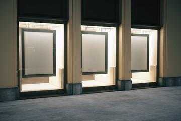 Shop exterior with frames