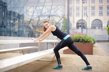 Healthy woman training