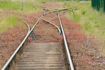 Eisenbahnschiene mit Weiche