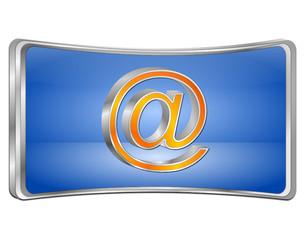 E-Mail Button - 3D illustration