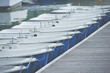 Single Row of Boats
