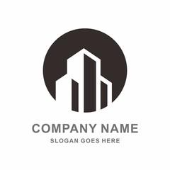 Building Shape Architecture Real Estate vector Logo Template