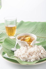 Southern Thai Style Curry with Rice(khao mun kaeng) curry-on-ric