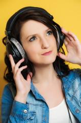 Musik hören mit Kopfhörer