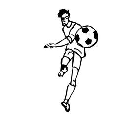 Fussballspieler kick design