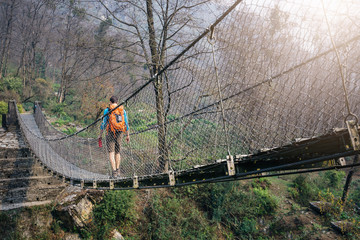 Crossing footbridge