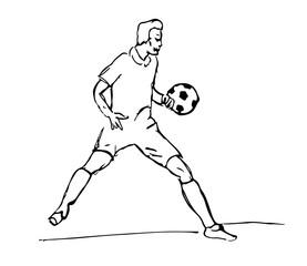 fussballer gezeichnet