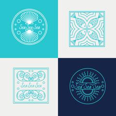 vector sign concept illustration. vector logos sea