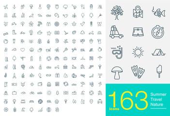 163 line icons