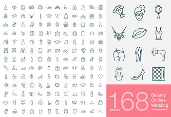 168 line icons