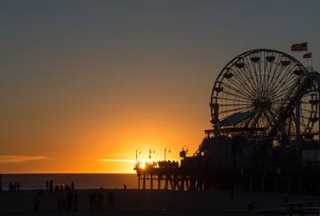 Sonnenuntergang in Santa Monica
