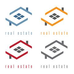 vector illustration set of residential real estate