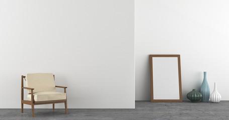 Modern interior scene composition