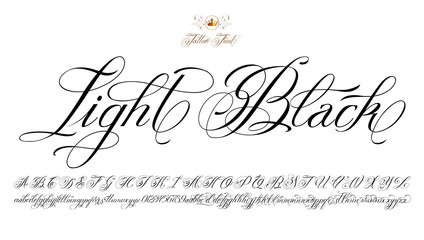 Light Black Tattoo Font