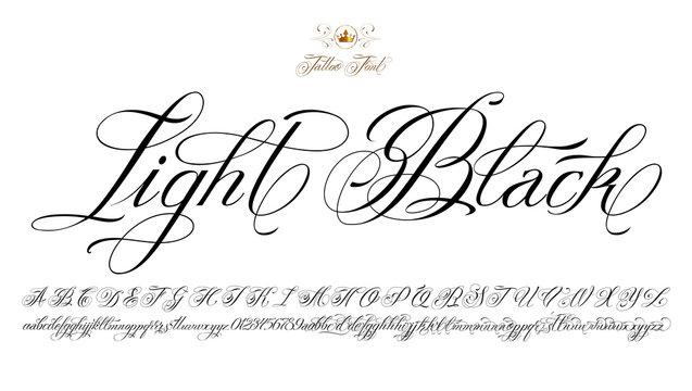 Light Black Tattoo Font