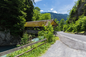 Traditional Covered Wood Bridge