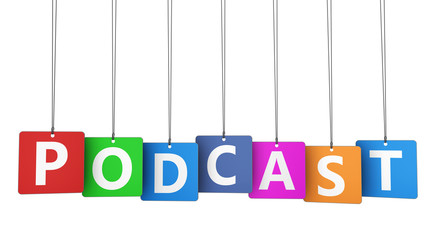 Podcast Word On Colorful Tags